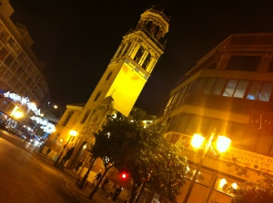 The view of my home from Plaza Cristo de Burgos